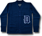 LETTERED CARDIGAN DARK ROYAL