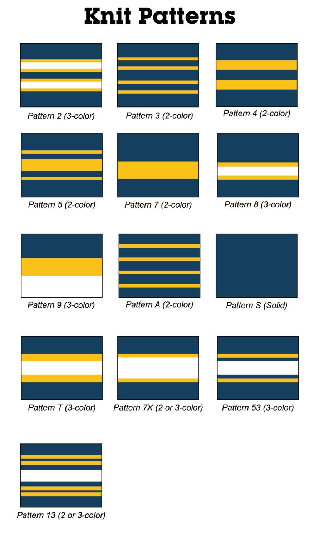 ニットリムパターン見本表